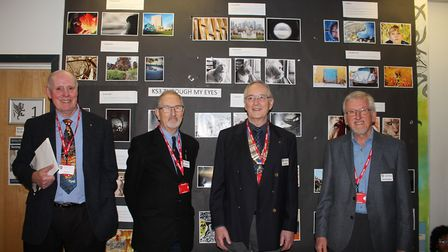 The judges and president Gary Wilkins at the awards ceremony.