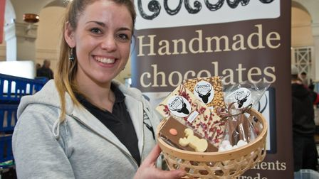Cocoa's hand made chocolates by Jemma Bristow at eat:Christmas festival. Picture: MARK ATHERTON