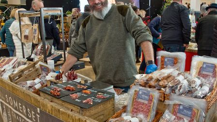 David Jones from the Somerset Charcuterie at eat:Christmas festival. Picture: MARK ATHERTON