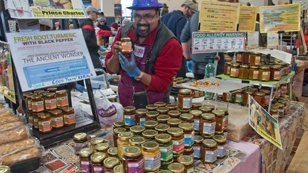 Chef Collin Pereira presents India in a Jar with a dash of Devon at eat:Christmas festival. Pictu