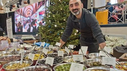 Stefano from Stefano's Food at eat:Christmas festival. Picture: MARK ATHERTON
