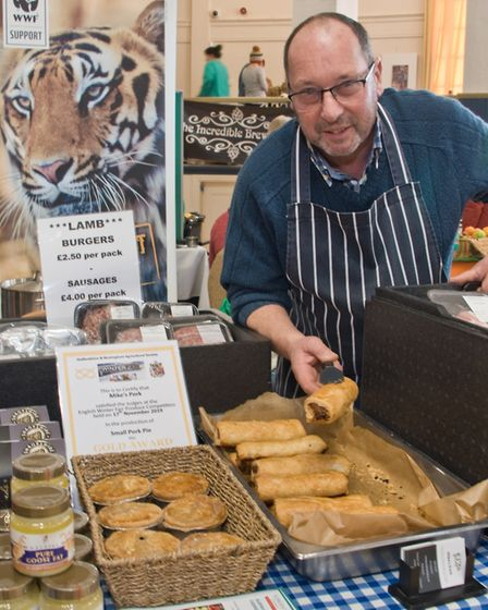 Mike Smith from 'Mike's Pork' at eat:Christmas festival. Picture: MARK ATHERTON