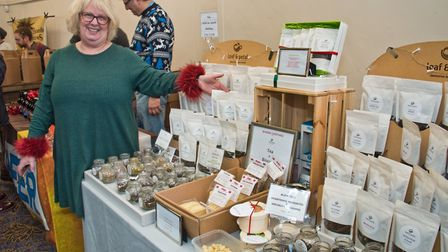 Kerry Voke Leaf and Petal distinctive teas at eat:Christmas festival. Picture: MARK ATHERTON