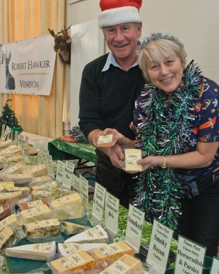 Times Past Cheese Dairy - Stephen and Janice Webber at eat:Christmas festival. Picture: MARK ATHE