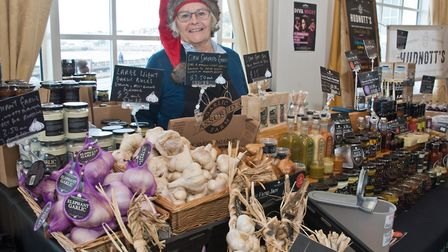 Maggie Solari from the Garlic Farm at eat:Christmas festival. Picture: MARK ATHERTON
