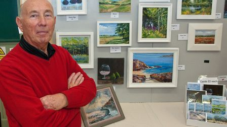 Artist Eric Maggs brought a mixture of paintings to Wrington arts fair.Picture: MARK ATHERTON