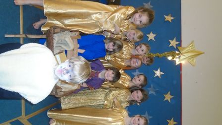 Year two at Yatton Infant School at their nativity