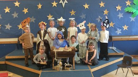 The reception class at Yatton Infant School had their nativity play