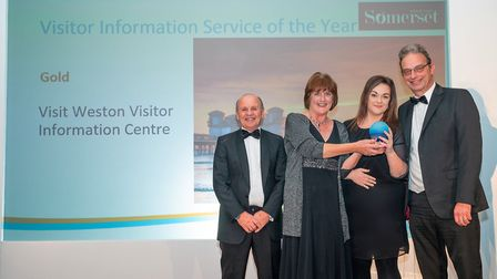 The Visit Weston with its gold tourism award. Picture: Visit Weston