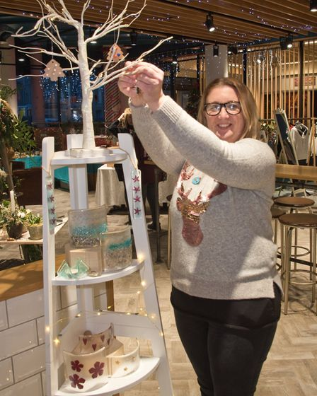 Lisa Jewson with her Lisa's Glass at the Weston Collective in the Sovereign Centre. Picture: MARK