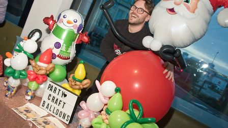 Party Craft Balloons by Sam Chew from the Weston Collective in the Sovereign Centre. Picture: MAR
