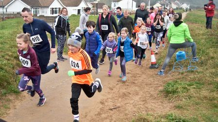 Weston Whippets Wake Up 2020 road race. 2K family run along the sea front. Picture: MARK ATHER