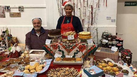 Stall holders at Worle Community Centre's Christmas fair. Picture: Worle Community Centre