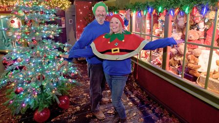 Nigel and Becci North inviting you to their Christmas emporium at Middlecombe Nursery, Wrington Road