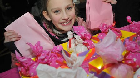 Anais with her homemade cosmetics and bathbombs at Wrington Dickensian Fair.Picture: Jeremy Long