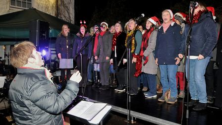 Joyful Spirit Choir, of Wrington, sing carols at Wrington Dickensian fair.Picture: Jeremy Long