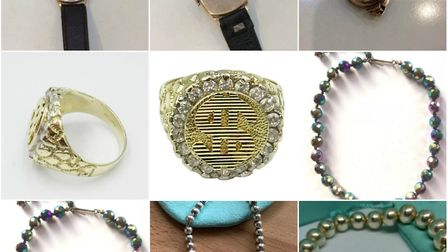 The items were stolen from a property in Worle. Picture: Avon and Somerset Constabulary
