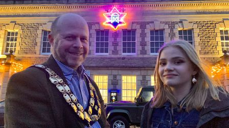 Weston's mayor Mark Canniford and Emily Fairhurst. Picture: Becky Walsh