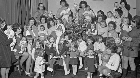 Some of the children who met Father Christmas at Bleadon Infant Welfare Clinic party. Picture: W