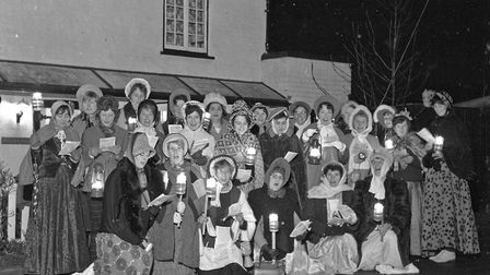 This old-time style carol party comprises of East Brent Ladies' Club, who are touring the district c