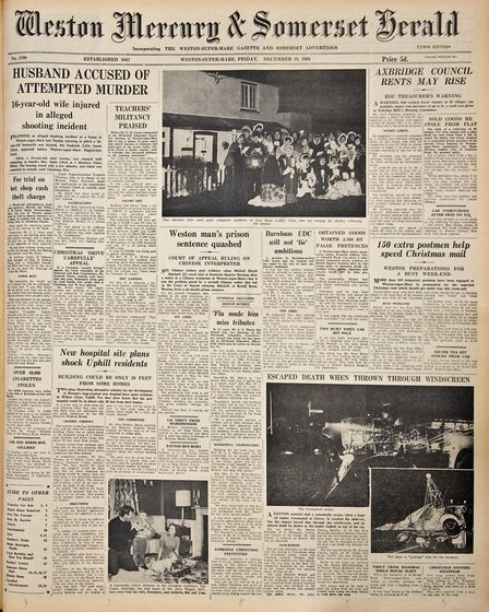 Front Page 19th December 1969 Edition. Picture: WESTON MERCURY