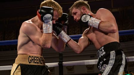 Dean Dodge in action during his fight against Stu Greener.