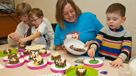 Monthly messy church event in Long Ashton.Picture: MARK ATHERTON