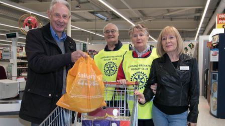 Peter Stephens with the shopping he won. Picture: Gordano Breakfast Rotary Club
