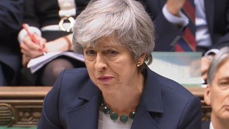 Theresa May at prime minister's questions in the House of Commons (Pic: Parliament)