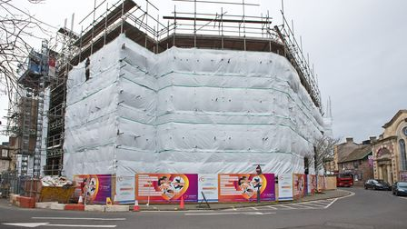 Student accommodation under construction in Wadham Street. Picture: MARK ATHERTON