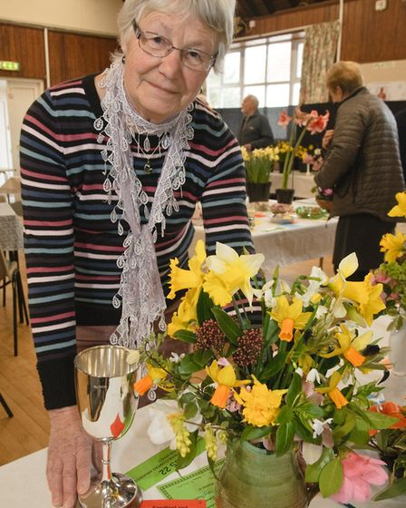 Ros Mizen won best in show at Sandford Gardening Clubs spring show 2015.Picture: Mark Atherton