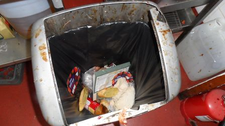 Dirty bin found during the inspection