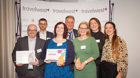 Award winners at the Travelwest Business Travel Awards. Picture: North Somerset Council