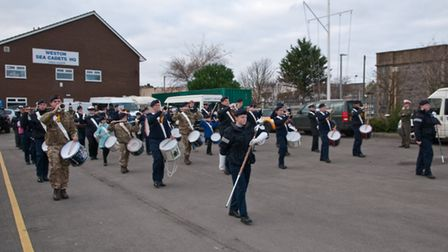 T.S. Weston cadets during practice. Picture: MARK ATHERTON
