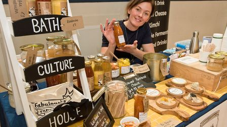 Lucie Cousins from the Bath Culture House at Weston - Eat Vegan. Picture: MARK ATHERTON