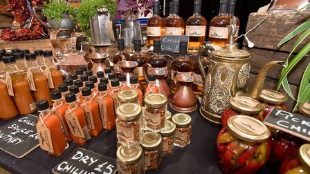 A beatiful display by the Culmstock Chilli Co. at Weston - Eat Vegan. Picture: MARK ATHERTON