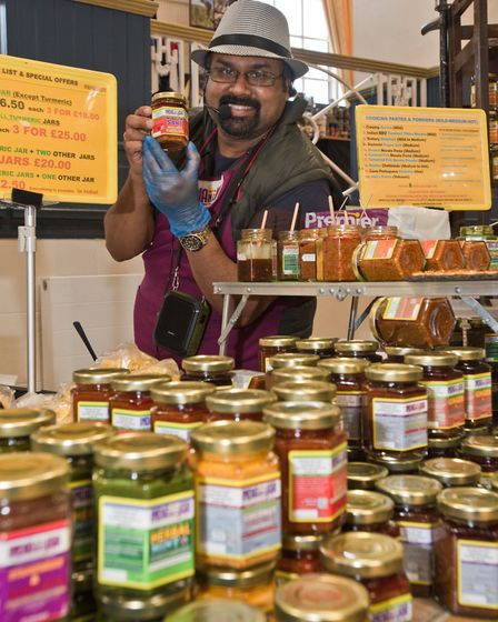 India in a Jar by Chef Collin Pereira at Weston - Eat Vegan. Picture: MARK ATHERTON
