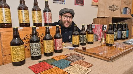 Stephen Hall the Incredible Brewing Company at Weston - Eat Vegan. Picture: MARK ATHERTON