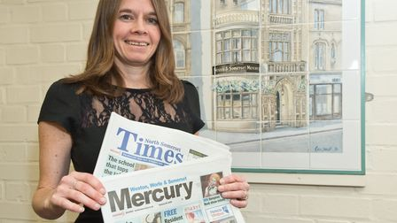 Weston Mercury and North Somerset Times Editor Vicky Angear. Picture: MARK ATHERTON