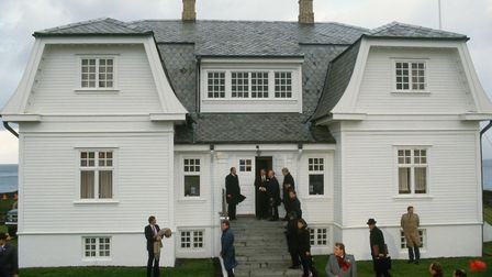 The talks were held in Hofoi house, the former British embassy in Iceland. Picture: VCG via Getty Im