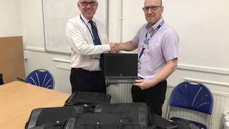 NSCP donated the laptops as a part of their regeneration programme