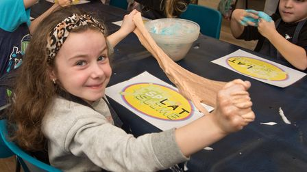 Children enjoying the Splat Slime workshop at Weston Museum. Picture: MARK ATHERTON