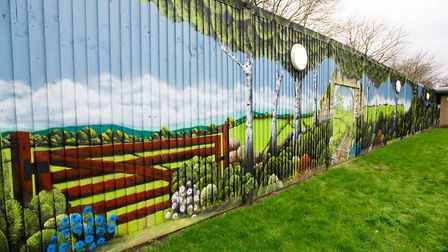 Mural created by artist Martin Darcy at the Long Fox Unit. Picture: MARK ATHERTON