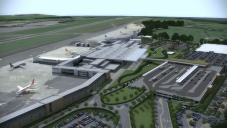 A computer render of what the expanded Bristol Airport might look like. Picture: Bristol Airport