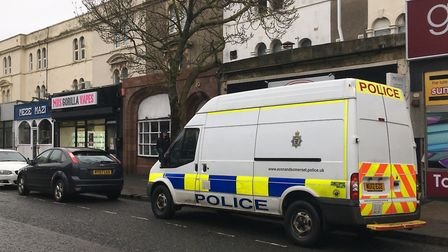 A drugs raid was carried out in Oxford Street. Picture: Henry Woodsford