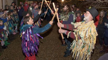 The Rag Morris at Hutton Wassail. Picture: MARK ATHERTON