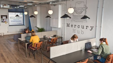 The Mercury Hub, a new co-working space has opened in the old Clevedon Mercury building in Linden Ro