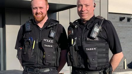 Avon and Somerset Constabulary officers Aaron Morgan and Mark Golding.Picture: Lily Newton-Browne