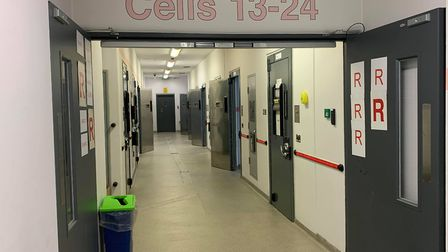 The layout of police cells at Bridgwater Police Centre, in Bristol Road.Picture: Lily Newton-Browne