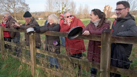 Congresbury Wassail at the Community Orchard. Picture: MARK ATHERTON